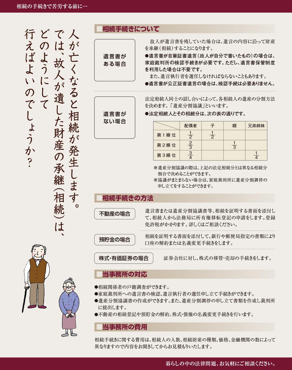 相続パンフレット(ウラ)